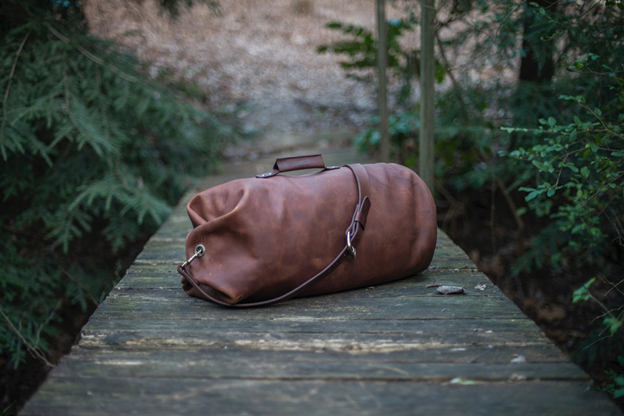Nathan Martin Go Forth Goods leather duffle