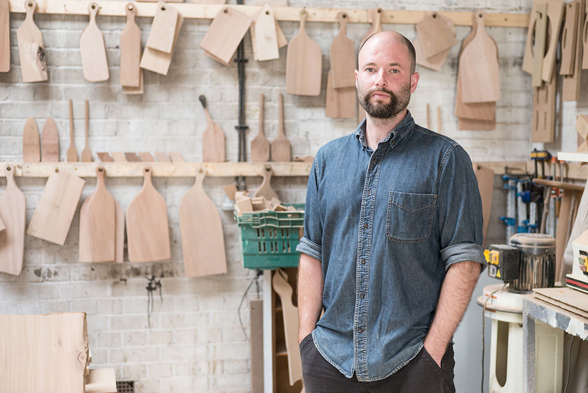Jonty Hampson, owner and woodworker - Hampson Woods
