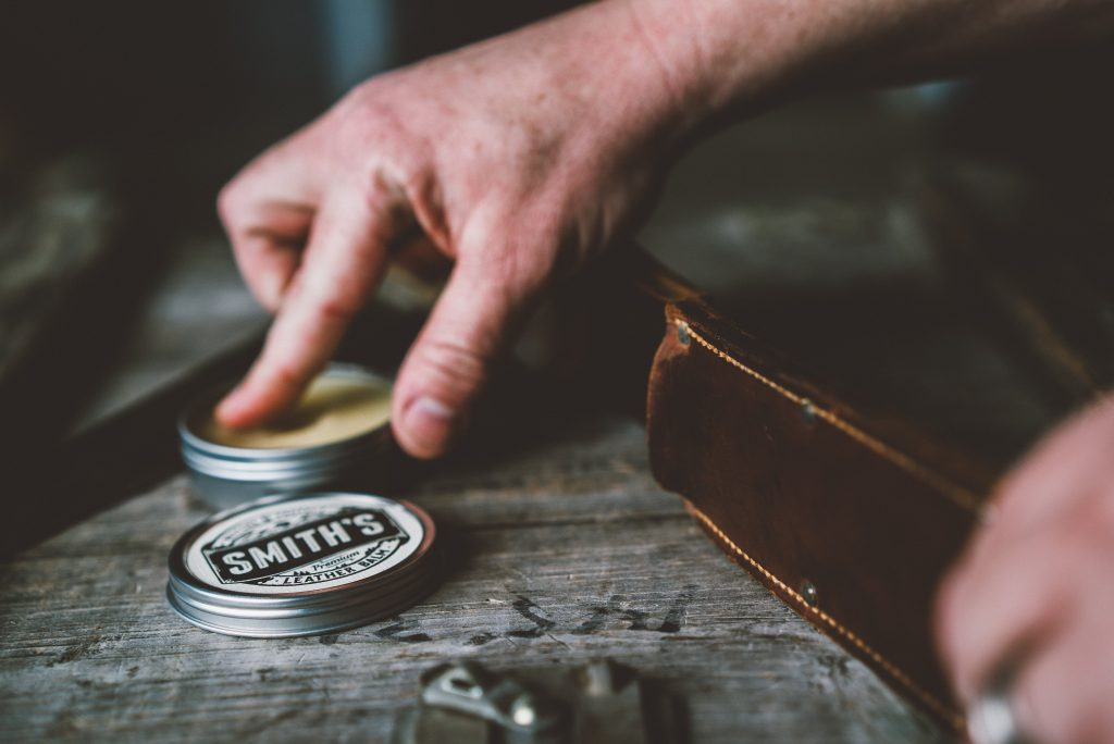 Smith's Leather Balm leather application