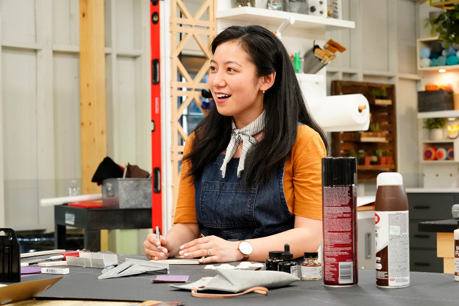 Aspen Vo Hasse maker on food for thought episode of NBC's Making It