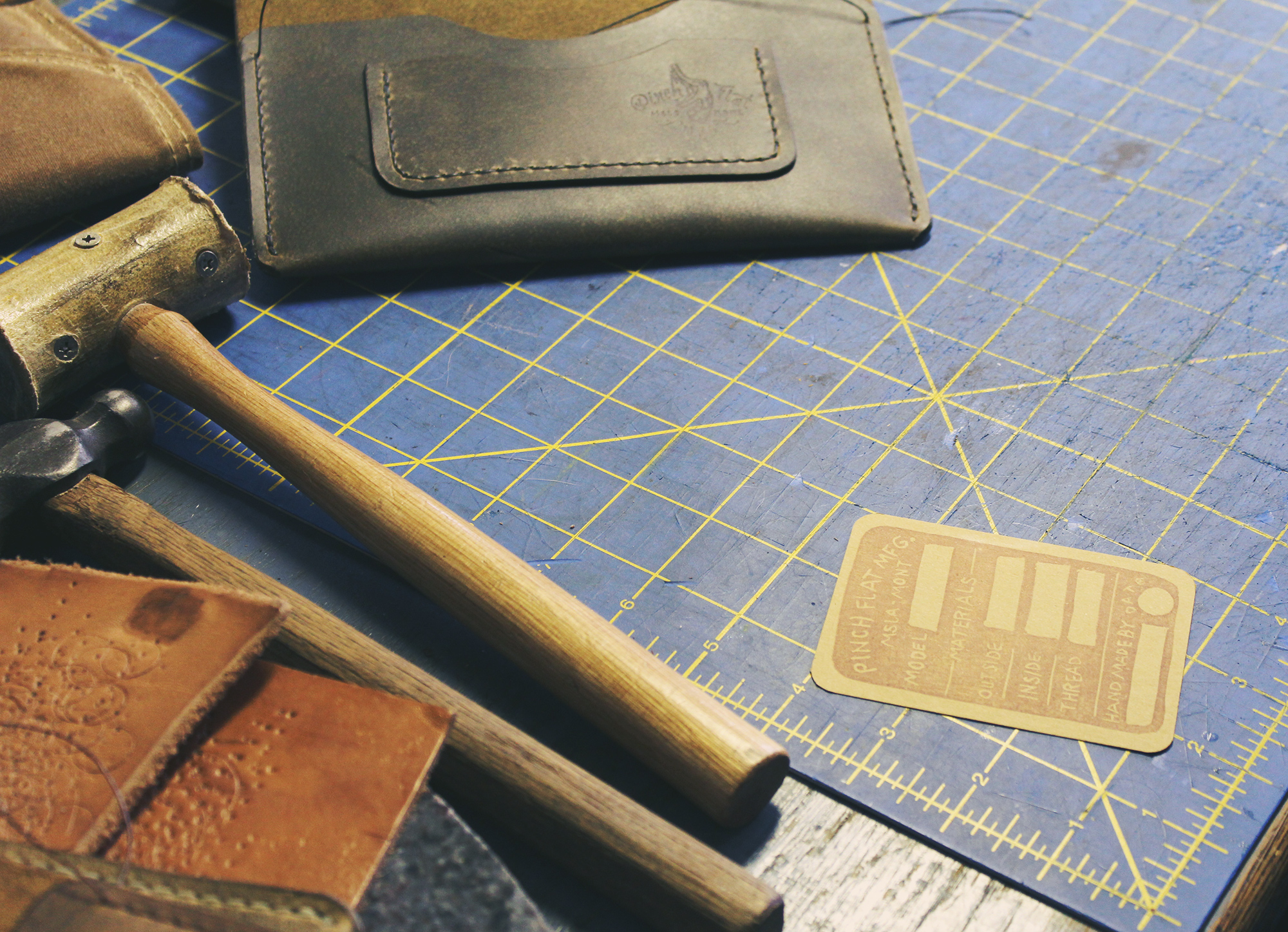 Leather working supplies and wallets