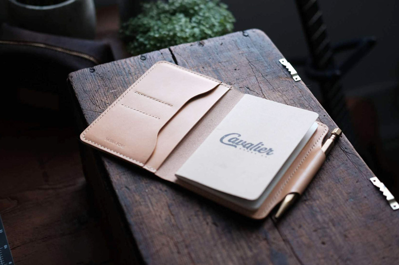 Cavalier Goods Co. leather notebook holder field notes journals by Marvin Jobs