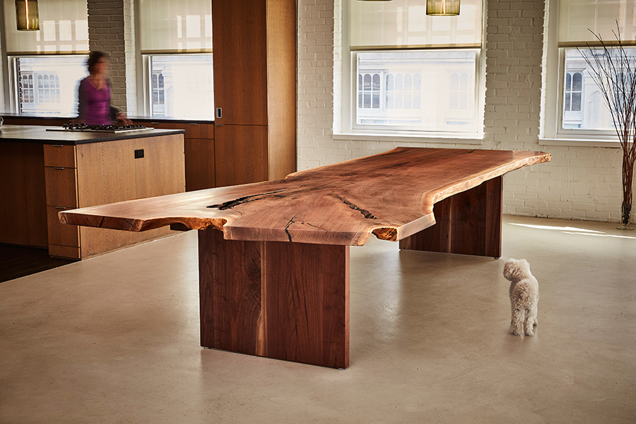David Stine Furniture walnut slab table