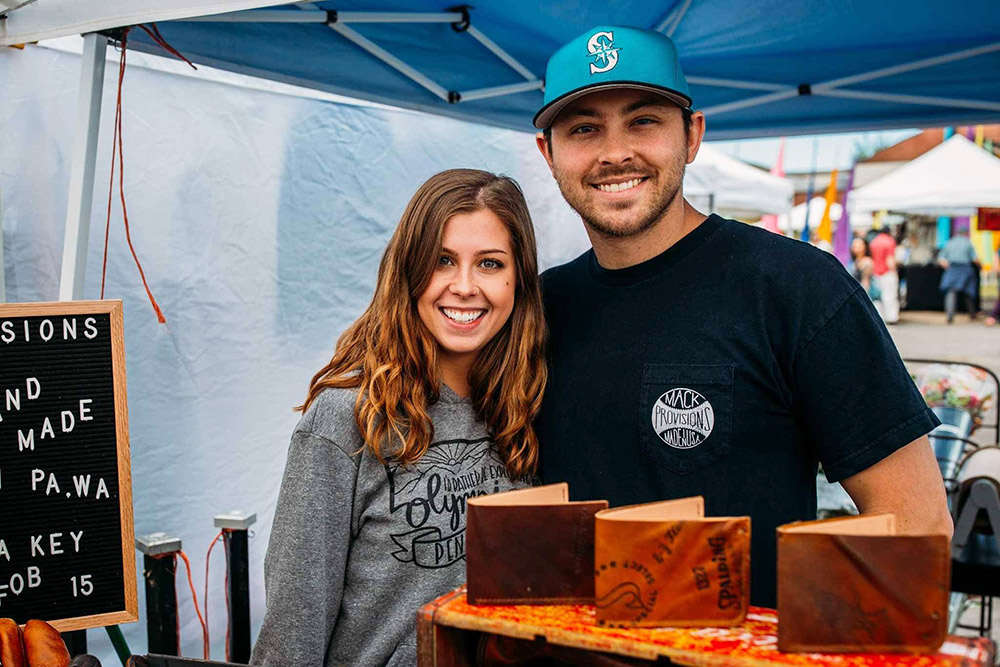 KC Mack and Lindsay Smithberg - Mack Provisions leather goods