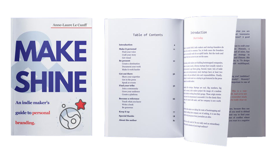 Make & Shine eBook - Maker's Personal Branding By Anne-Laure Le Cunff