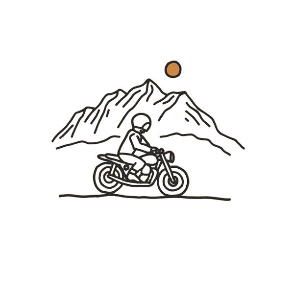 Motorcycle Illustration - Made by Lisa Marie