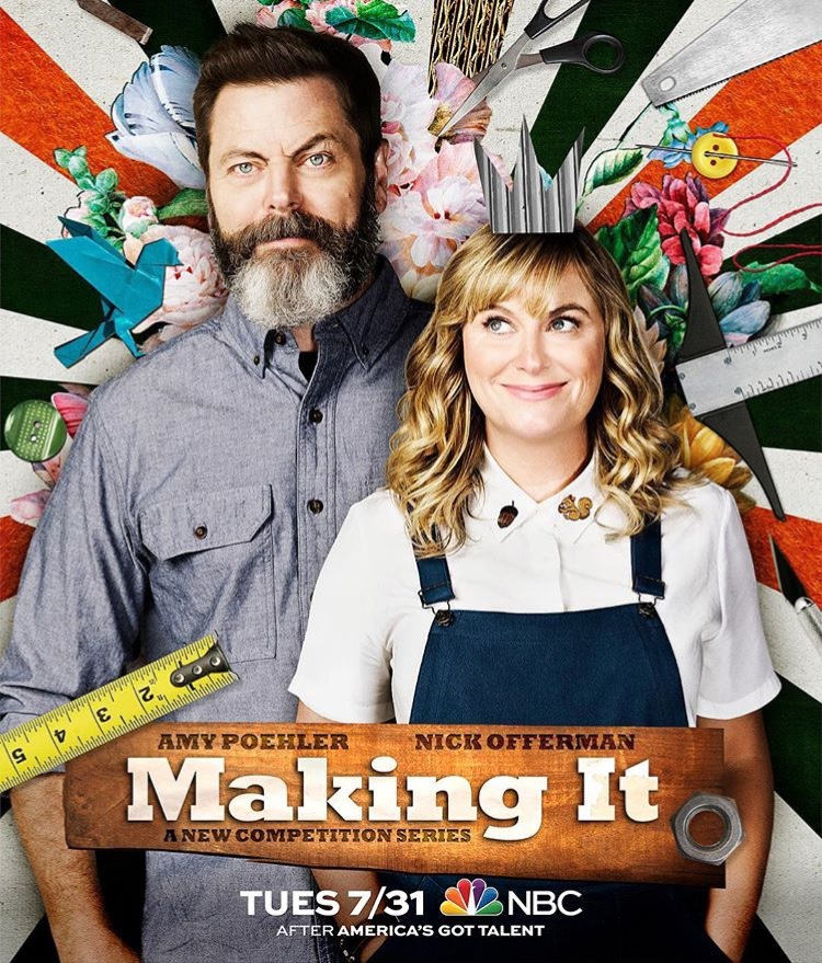 NBC's Making It TV show - Hosts Nick Offerman and Amy Poehler